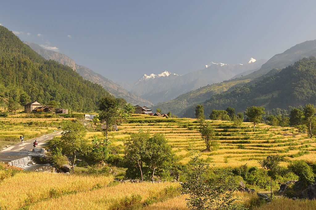 Manaslu Circuit Trek village